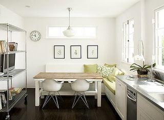 Corner banquette attached to kitchen remodelista